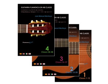 Flamenco Guitar in 48 lessons. V. 1, V.2, V.3. V.4