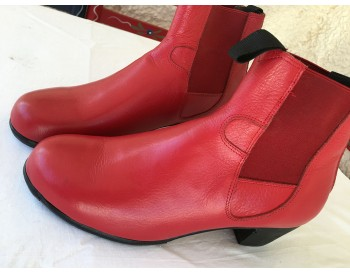 Flamenco boots  ArteFYL - Leather red - size 39 1/2