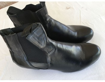 Flamenco boots - buleria. black leather- size 44 1/2