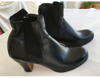 woman boots buleria - black leather - size 40 1/2