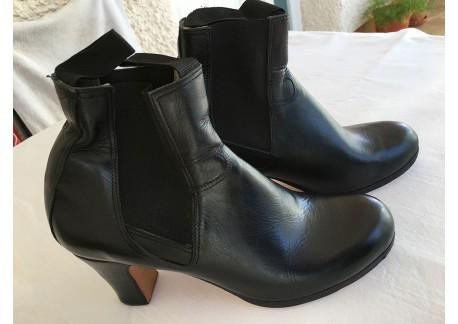 Botin buleria mujer - piel negro - talla 40 1/2