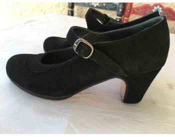 Zapatos Dolores - ante negro - talla 35 1/2