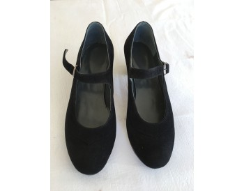 Flamenco shoes Dolores black suede size 36 1/2