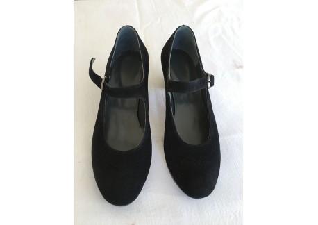 Flamenco shoes Dolores black suede size 36 1/2