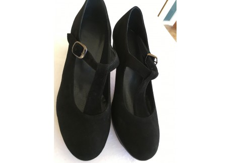 Flamenco shoes Taranto - black suede - size 36 1/2