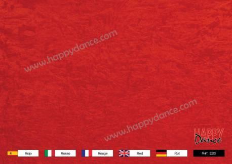 Terciopelo chafado rojo E05