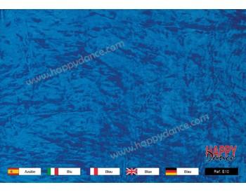 Terciopelo chafado azulina E10