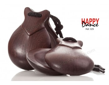 Brown Cocuswood castanets