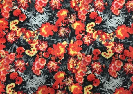 Flores negro naranja