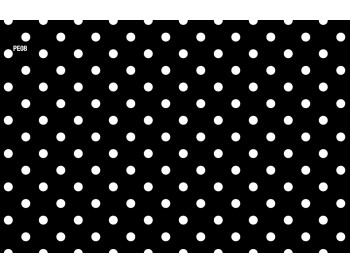 Black w/ white polka-dots
