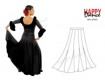Falda flamenco EF007 monocolor