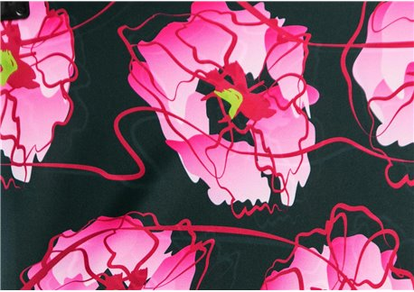 Fondo verde botella flores rosas