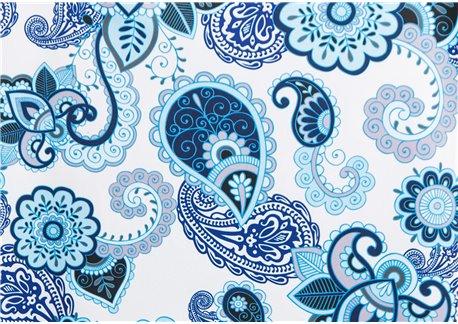 Fondo crema dibujos azules