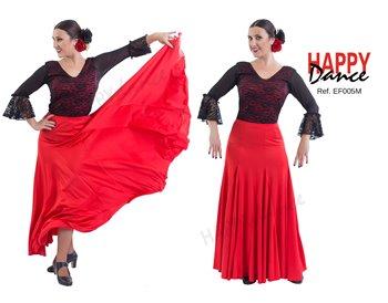 Falda flamenco monocolor