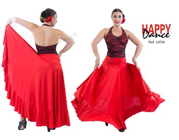 Flamenco skirt single color