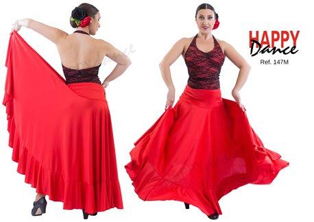 Flamenco skirt single color