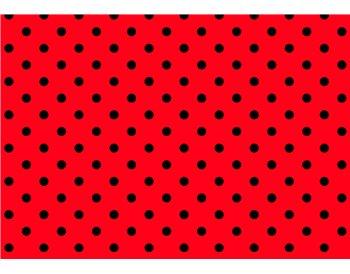 Rojo lunares negros