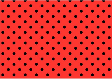 Lunares negros sobre rojo