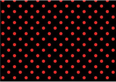Lunares rojos sobre negro