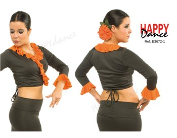 Flamenco crossover top