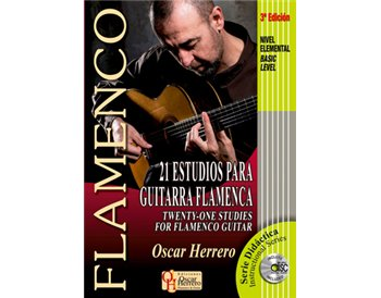 21 ESTUDIOS para Guitarra Flamenca (Nivel Elemental) + CD