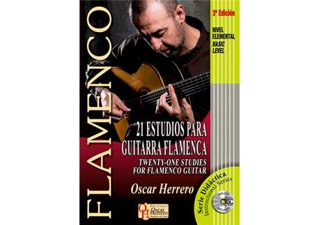 21 ESTUDIOS para Guitarra Flamenca (Nivel Elemental) + CD