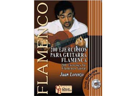 200 EJERCICIOS PARA GUITARRA FLAMENCA - Partituras + CD