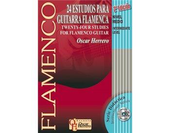 Libro+CD de partituras 24 Estudios para Guitarra Flamenca