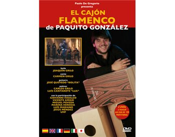 The flamenco cajón by Paquito González 2DVD + book
