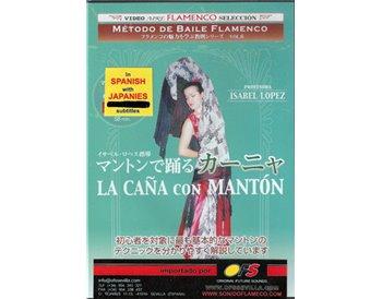 Método de baile flamenco. La Caña con Mantón