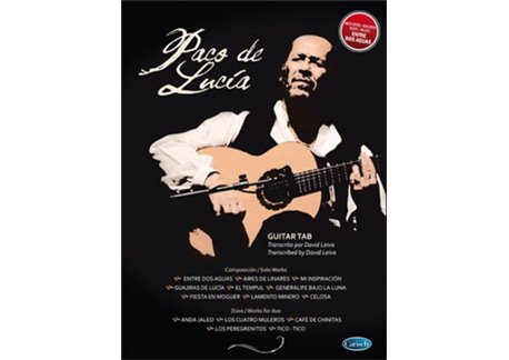 Paco de Lucía guitar tab, antologhy. book