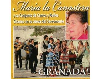 María la Canastera y su conjunto de cantos y bailes.