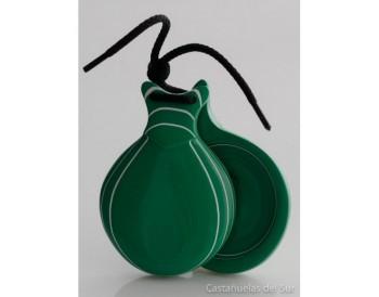 Vidrio verde veteado blanco