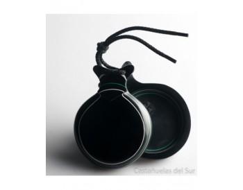 Capricho negra veteada blanco y verde