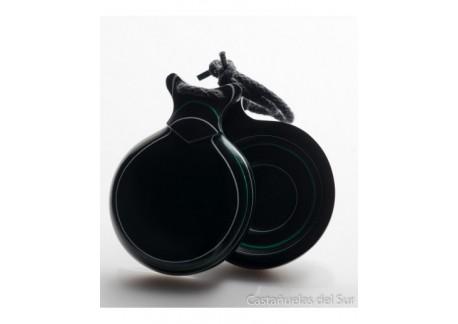 Capricho negro veteado blanco y verde