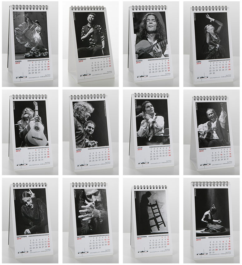 Calendario Flamenco Ana Palma